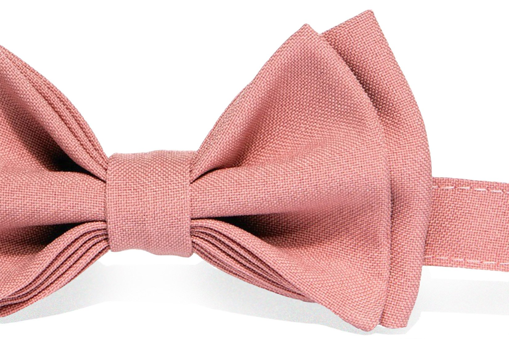 Baby Toddler Boy Men's Bow Tie Pre-tied - Made in USA (Boy (18 mo - 12 yrs), Dusty Rose)