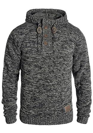 Solid Philon Herren Winter Pullover Strickpullover Kapuzenpullover  Grobstrick Pullover mit Kapuze, Größe S ff309b1a9d