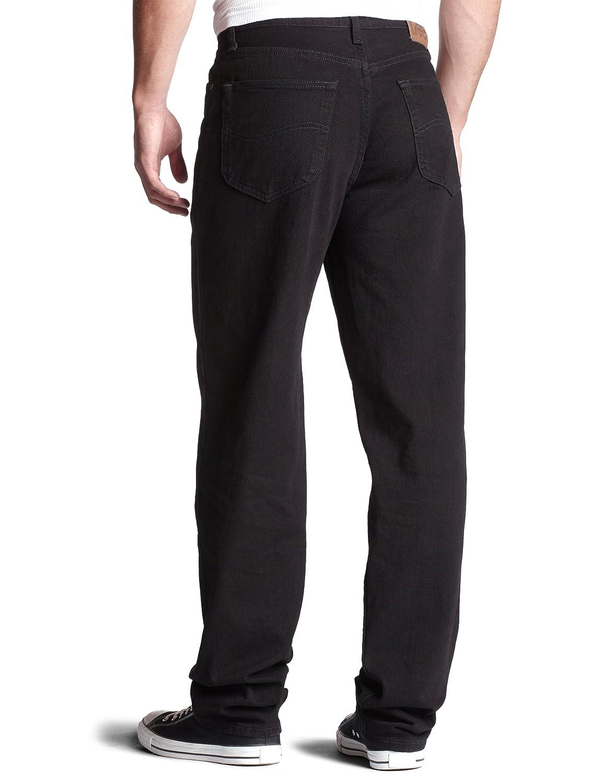 Lee Mens Regular Fit Straight Leg Jean, Double Black, 40W x 34L
