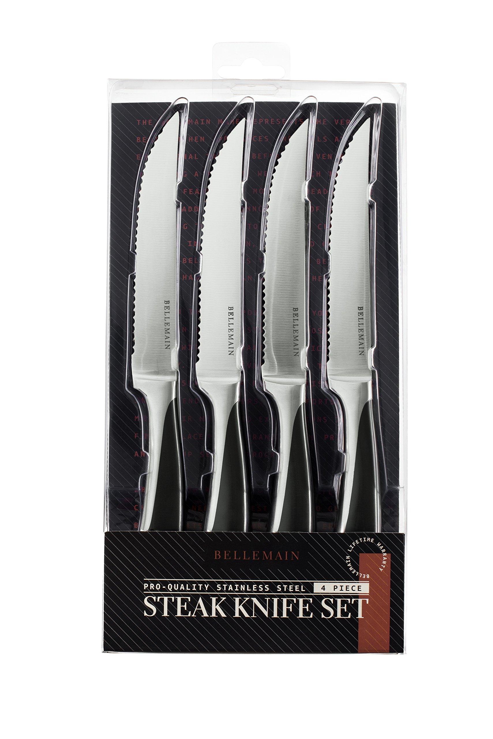 Bellemain Premium Steak Knife Set of 4 Stainless Steel by Bellemain (Image #6)