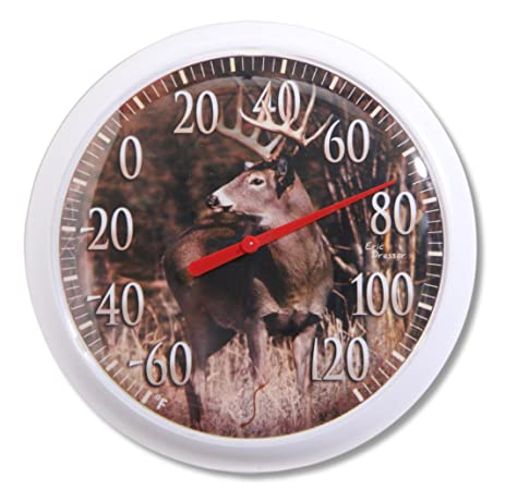 Springfield Country Deer Low Profile Patio Thermometer (13.25 Inch)