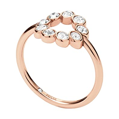 Fossil Women s Rose Gold Ring JF02744791  Amazon.co.uk  Jewellery fea60ec976