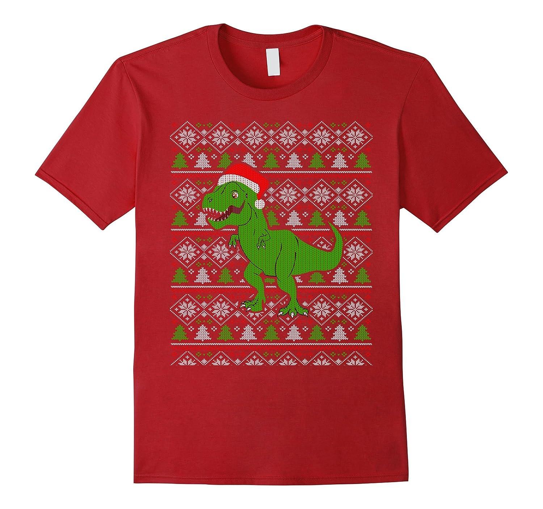 Dinosaur Christmas Sweater.Funny T Rex Dinosaur Ugly Christmas Sweater Style T Shirt Rt