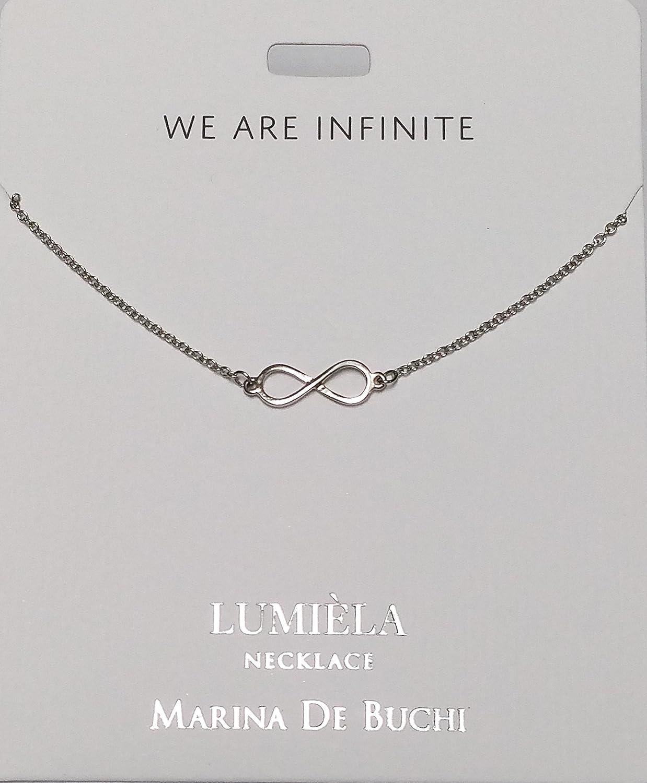 bf46bde85ed65 INFINITY (We are Infinite) Lumeila Necklace Marina De Buchi Silver ...
