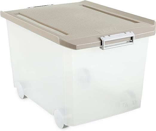Tatay - Caja Multiusos con Ruedas, 60 L, Beige, 40 x 56.5 x 36.2 ...