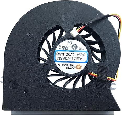 Ventilador Compatible con MSI GT72VR, GT72VR (MS 1785), GT72VR 6RD ...