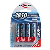 Amazon Price History for:ANSMANN AA Rechargeable Batteries 2850mAh Slimline high-capacity rechargeable NiMH AA Battery for cameras etc. (4-Pack)