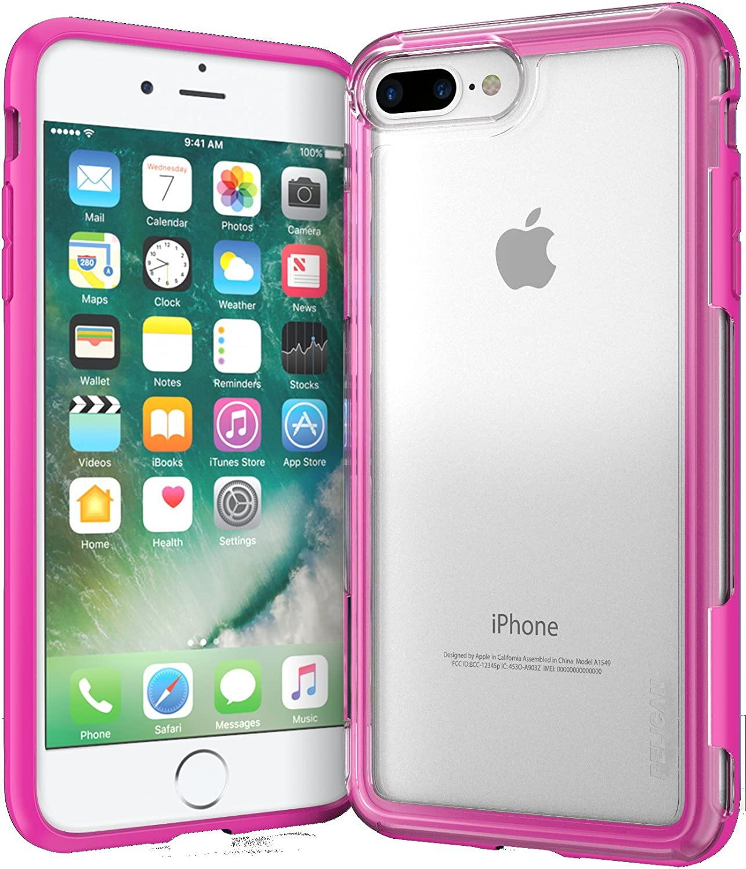 Pelican Adventurer iPhone 7 Plus Case (Clear/Pink)