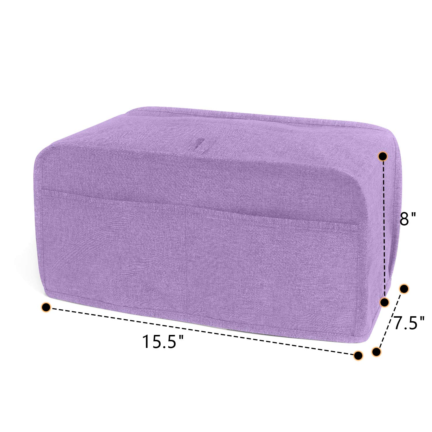 Fits for Most Major 2 Slice Toasters Toaster Cover with 2 Pockets Lavender Luxja 2 Slice Toaster Cover 11 x 7.5 x 8 inches