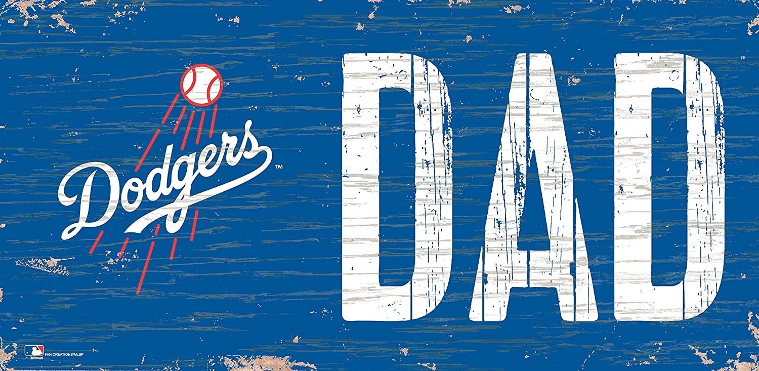 Fan Creations MLB Los Angeles Dodgers Unisex Los Angeles Dodgers DAD Sign, Team Color, 6 x 12