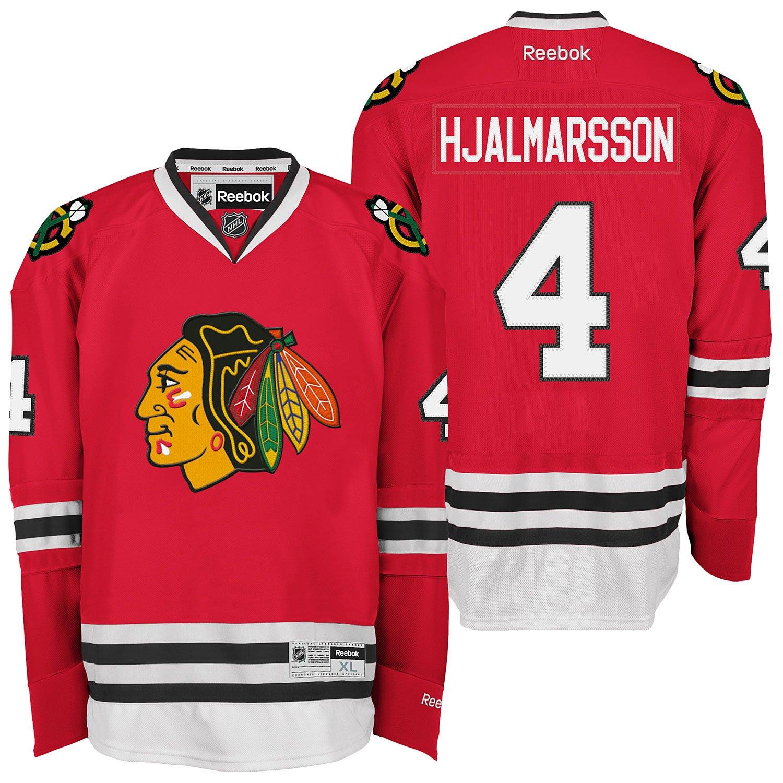 Amazon.com   Chicago Blackhawks  4 Niklas Hjalmarsson Reebok Premier Home Jersey  NHL XL   Sports   Outdoors 759bf2f04