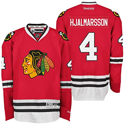 huge selection of 9abb6 ba010 Amazon.com : Chicago Blackhawks #4 Niklas Hjalmarsson Reebok ...