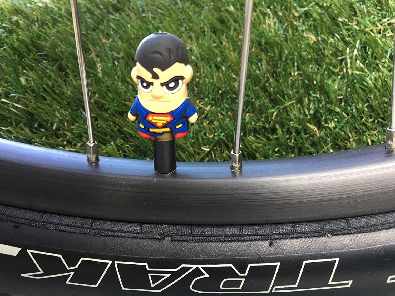 2スーパーヒーロー。。。シュレーダーバルブキャップクリス。。。ウェア。。。Cycling。。。MTB自転車。。。 B077T1LK7P