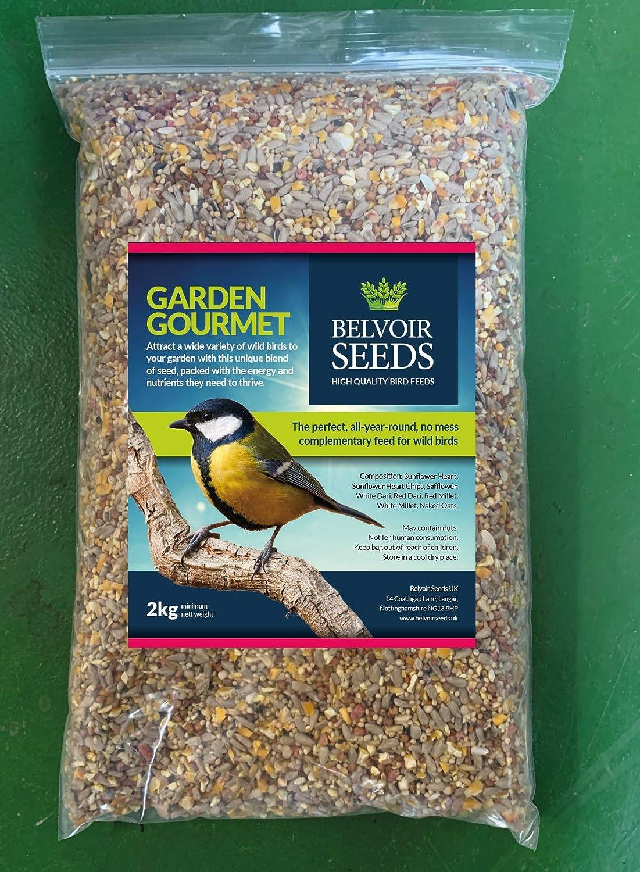 Semi di uccelli selvatici di alta qualit/à 2 kg Belvoir Seeds Garden Gourmet