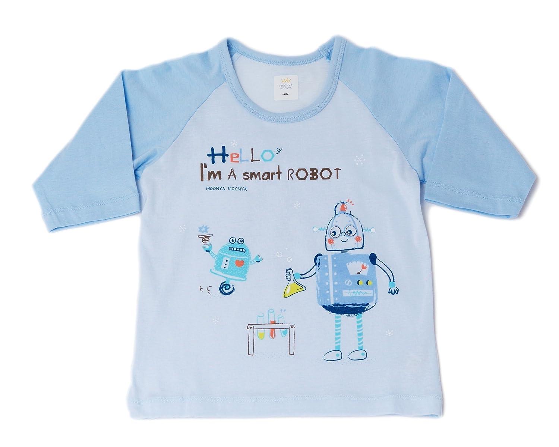 Moonya Moonya Korean Cotton Smart Robot Boy 2 Piece Sleep wear