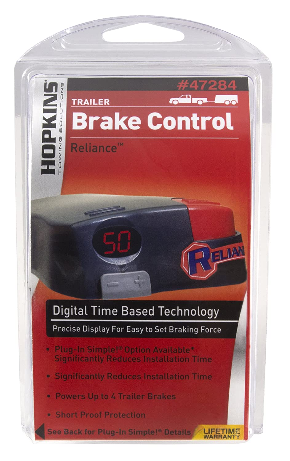 Hopkins 47284 Reliance Digital Electronic Brake Control With Plug In Trailer Mounted Controller Wiring Connector Towing Solution