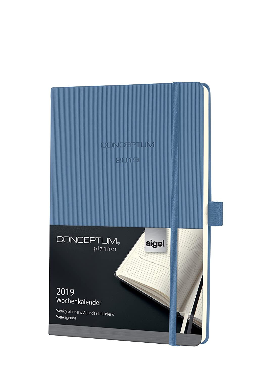 blu scuro ca CONCEPTUM Hardcover Sigel C1963 Agenda settimanale 2019 A6