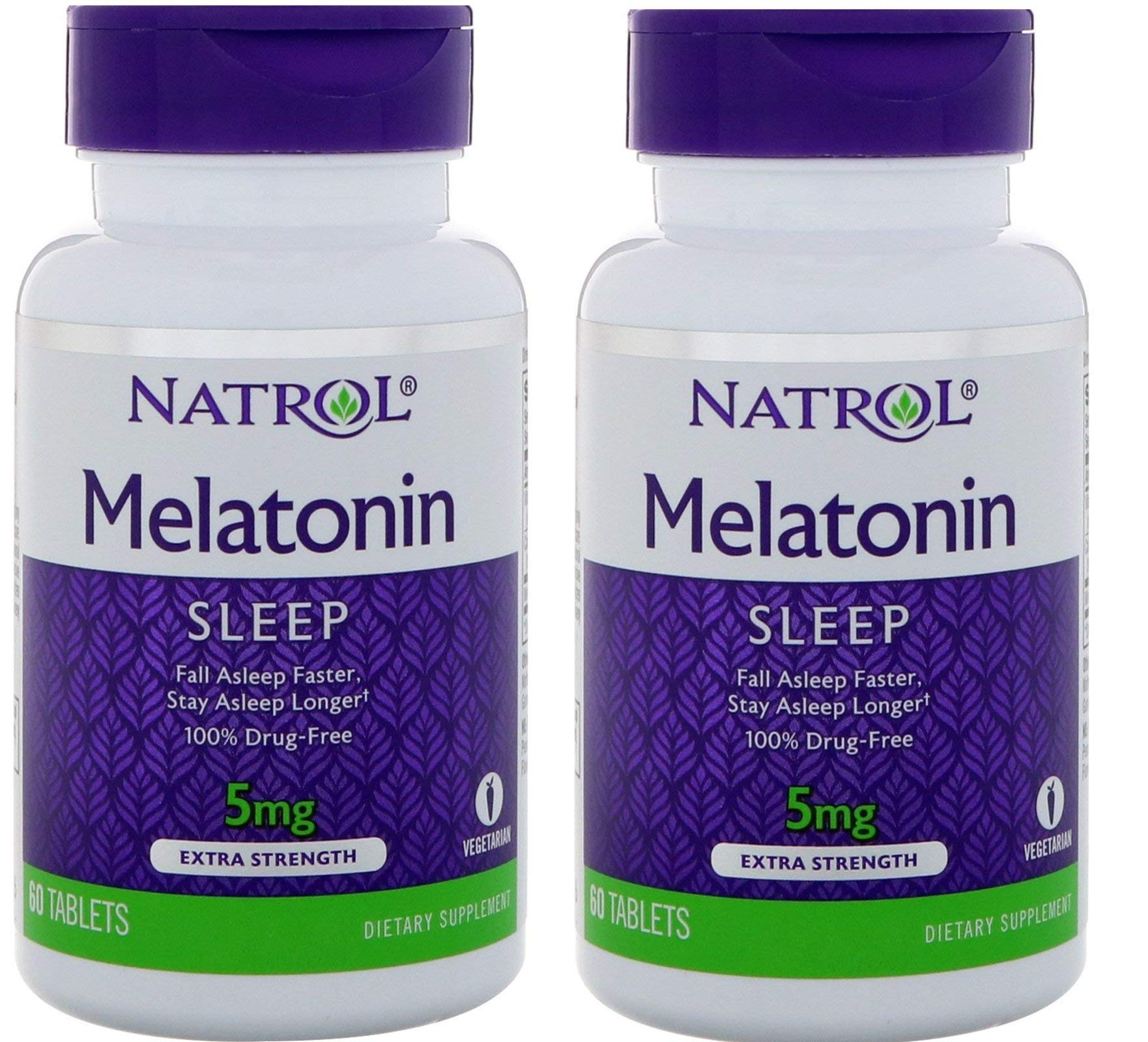 Natrol Melatonin Time Release 5mg Tablets 100 ea (Packs of 2)