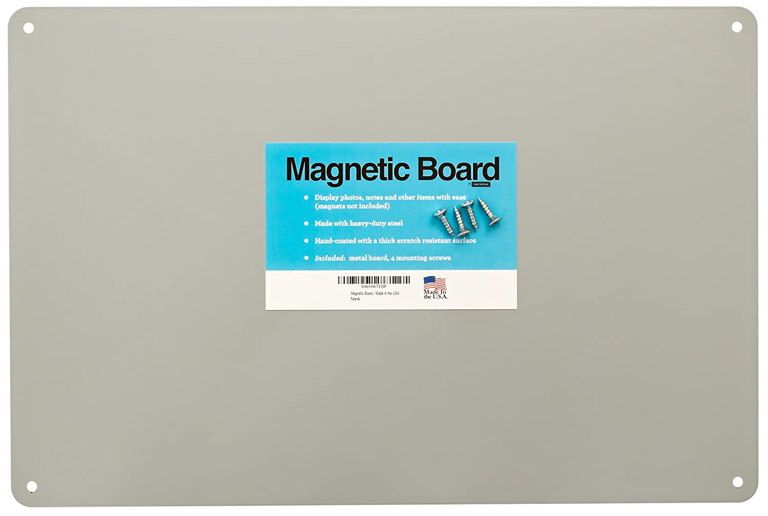 17.5 x 12 Magnetic Board - Made in the USA - Great Magnetic Bulletin Board, Magnetic Poetry Impresa Products BHBUSAZIN025368