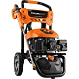 Generac Gas Pressure Washer 3100 PSI 2.5 GPM Lithium-Ion Electric Start with PowerDial Spray Gun, 25' Hose and 4 Nozzles