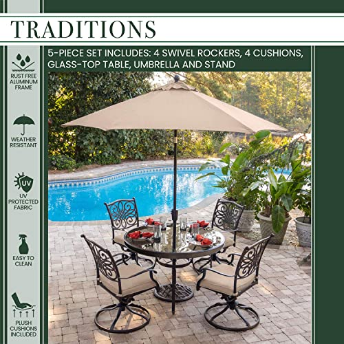 Hanover TRADDN5PCSWG-SU Traditions 5-Piece Tan