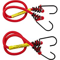 Gripwell PA72526 Metal Hook Bungee Cord 2 Pieces Set, 8 mm x 60 cm Size