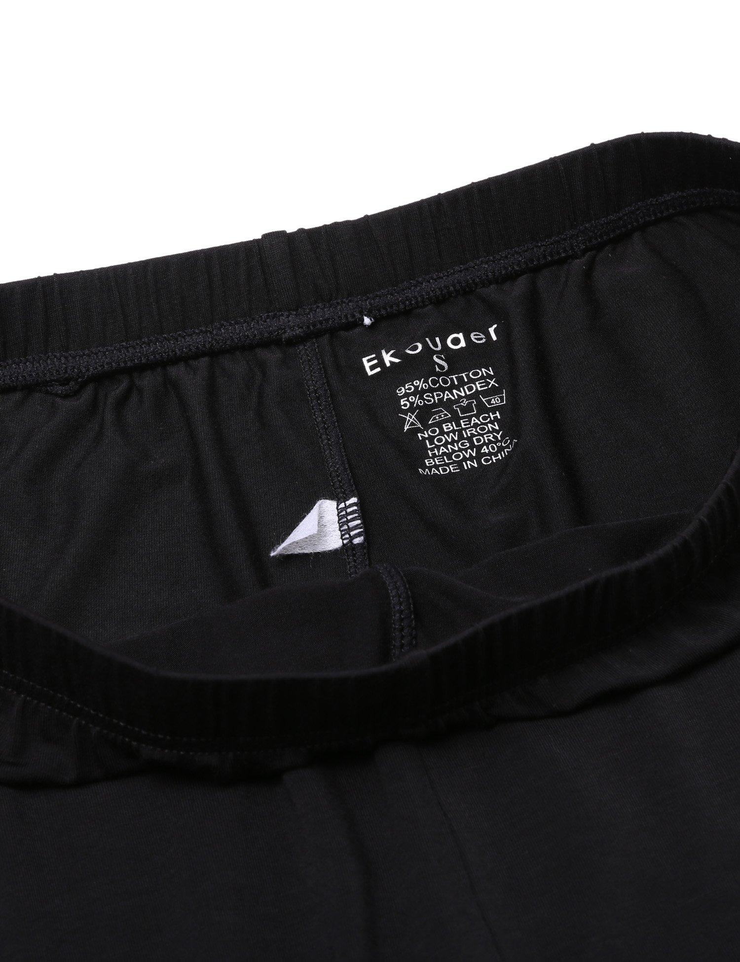 Ekouaer Women Thermal Underwear Set Solid V-Neck Long Sleeve Top and Long Pants Bottom Sleepwear by Ekouaer (Image #9)