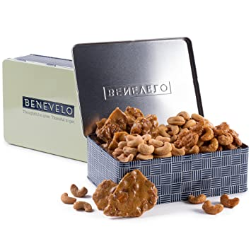 Gourmet Assorted Cashew Gift Set - Cashew Brittle, Honey Glazed, Roasted Salted, Roasted