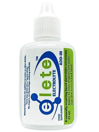 Elete hidratación concentrada de electrolitos - 25 Millitro - Botella de bolsillo. 4 electrolitos esenciales