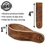 Leather Tobacco Pipe Stand - for Smoking Pipes