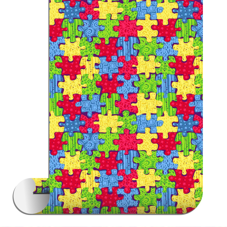 Sparkleberry Ink SBHT-12004-93-AUTISMAWARENESS Siser Htv Patterned, Autism Awareness
