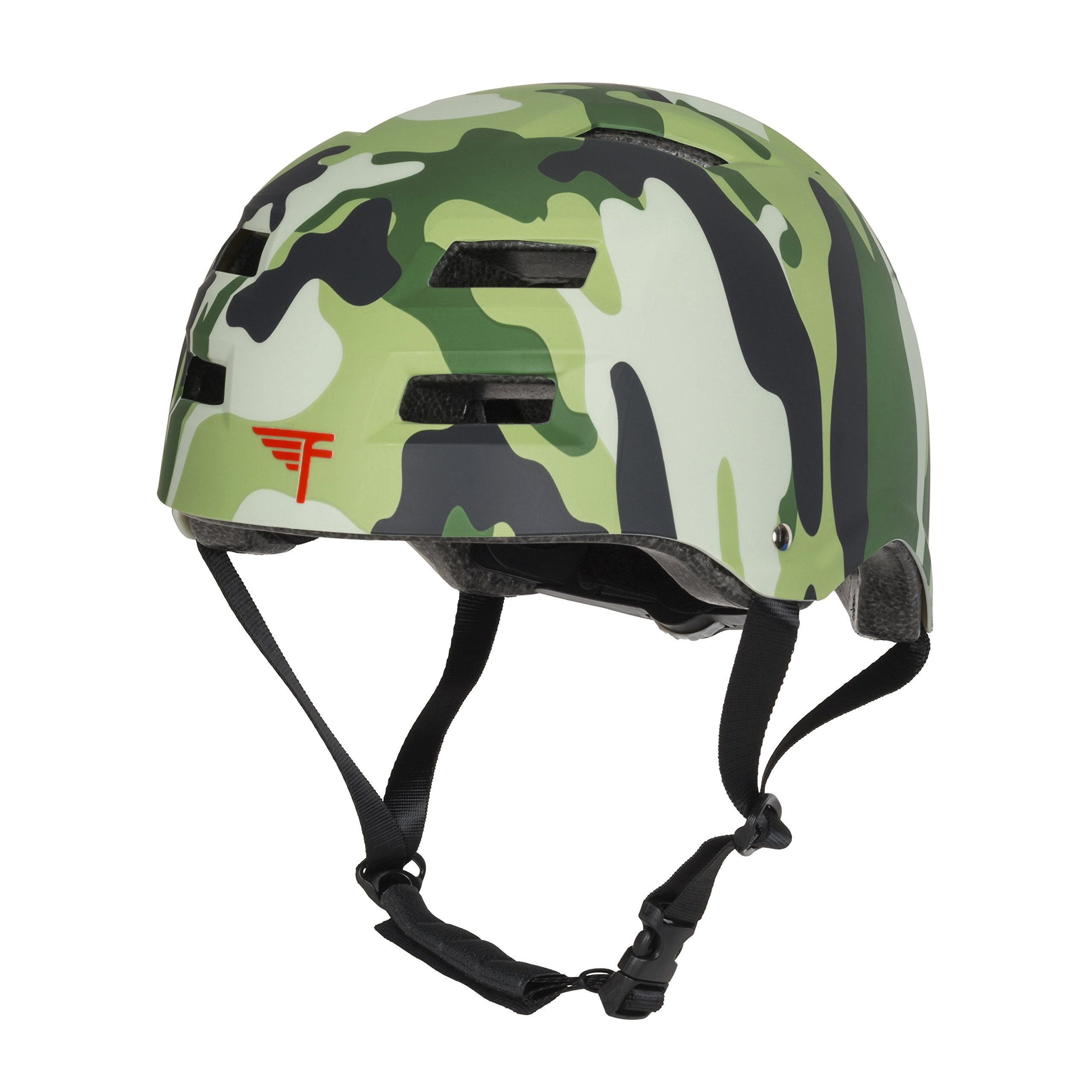 Flybar Dual Certified CPSC Multi Sport Kids & Adult Bike and Skateboard Adjustable Dial Helmet – Multiple Colors & Sizes (Camouflage, L/XL)