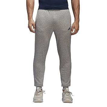 0335376a adidas Men's Essentials Slim French Terry Pants, Medium Grey  Heather/Collegiate Navy/Grey