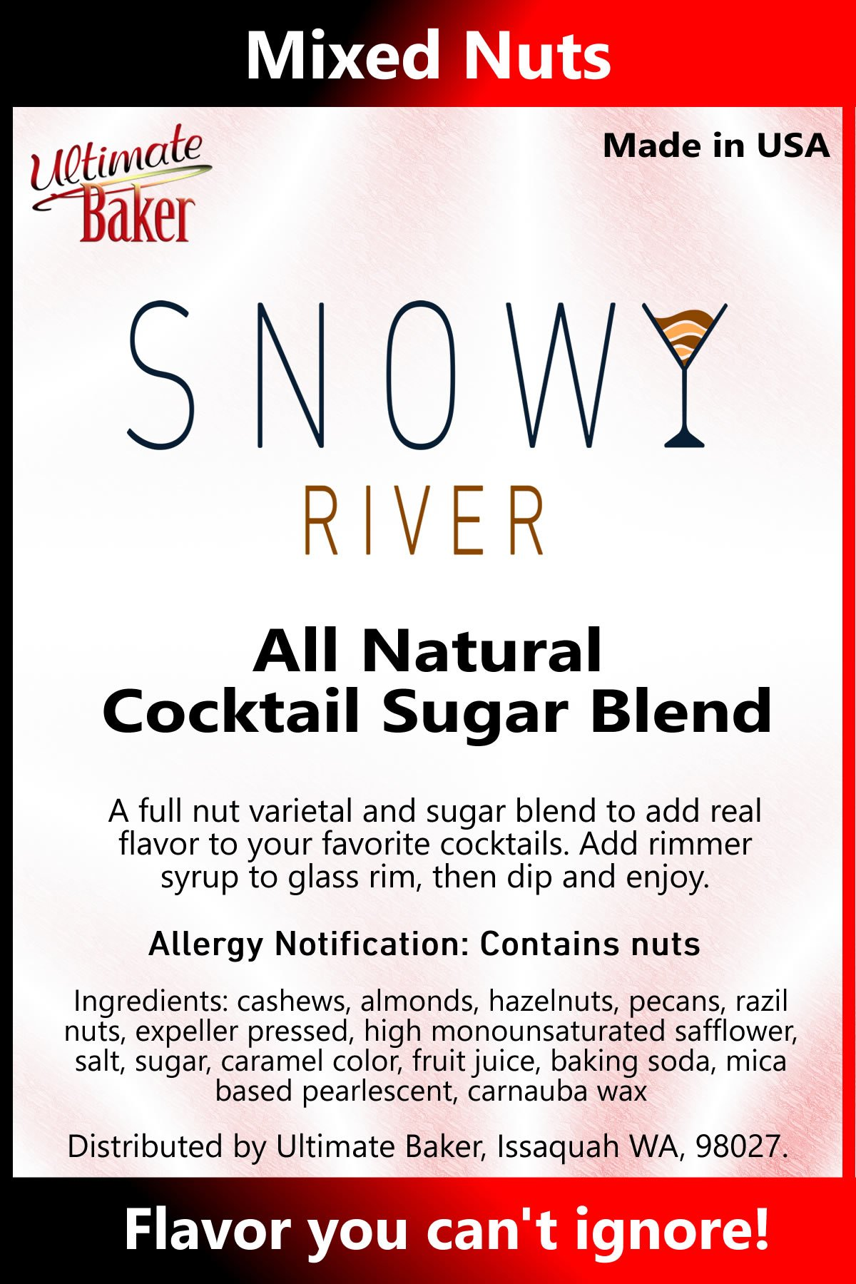 Snowy River Cocktail Sugar Mixed Nuts (1x5lb)