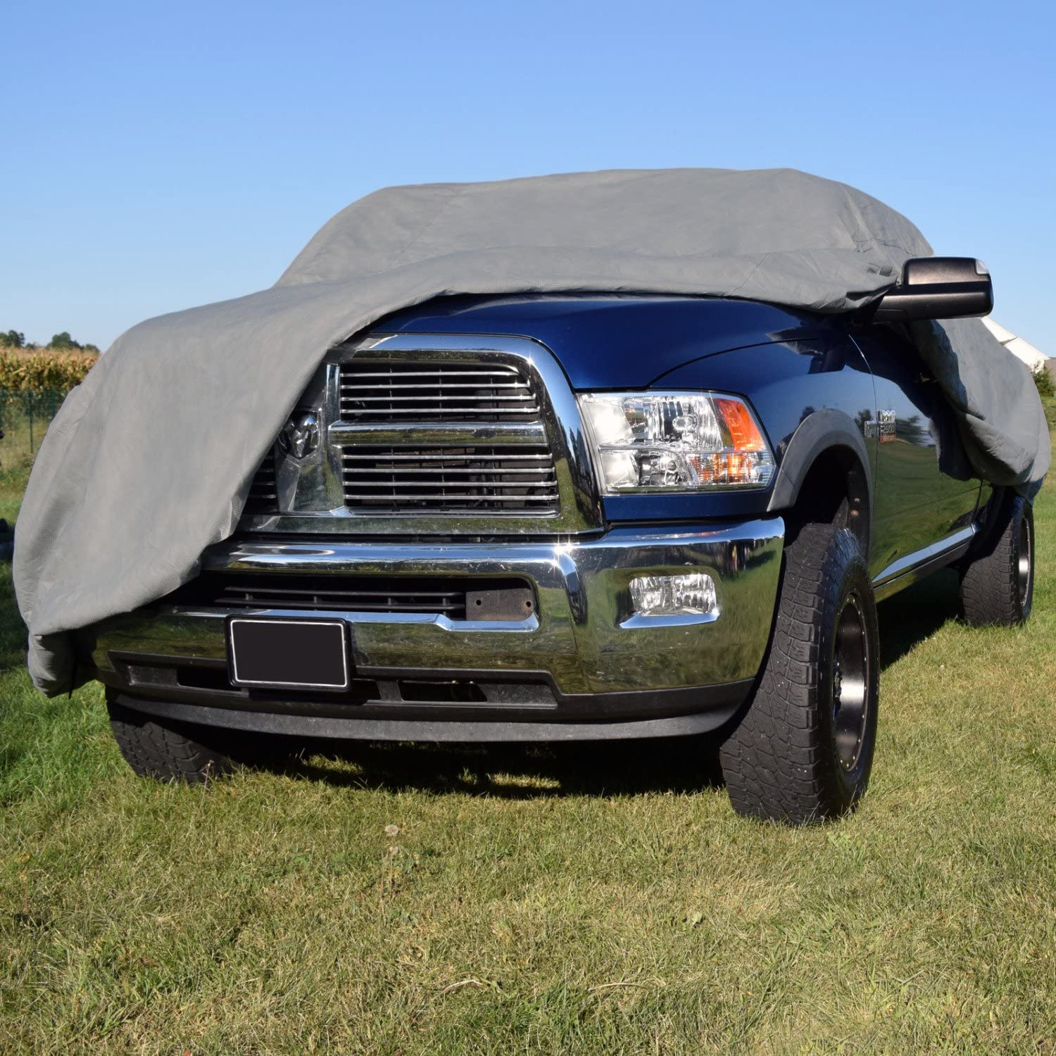 Budge Duro 3 Layer Truck Cover Water Resistant Fits Trucks up to 22 Scratchproof Gray Dustproof Cover