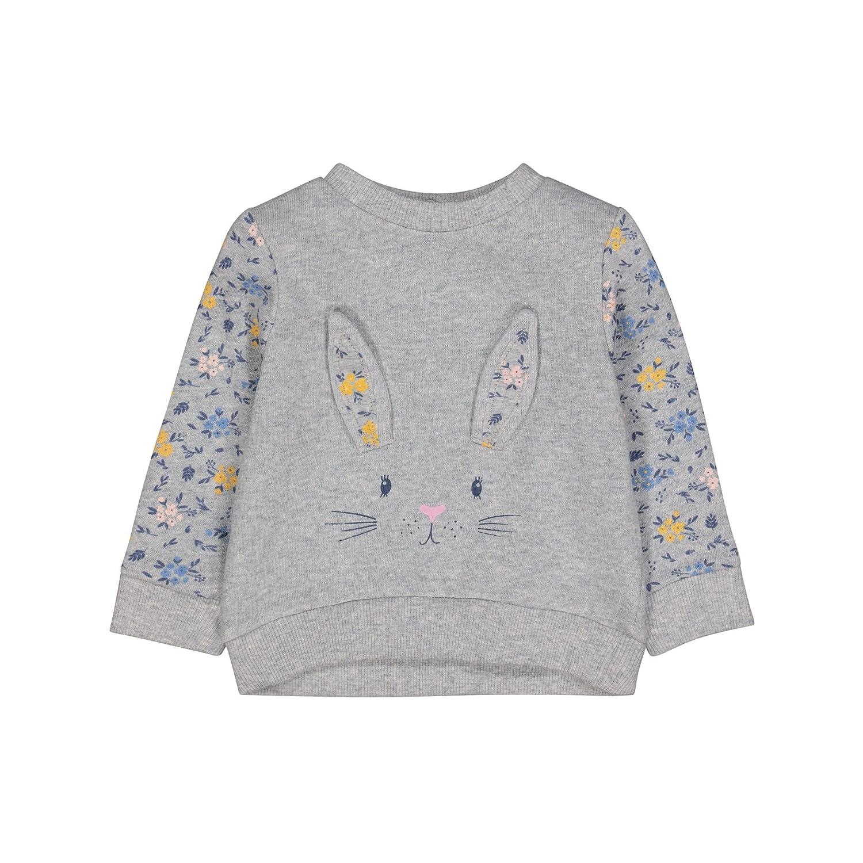 Mothercare Baby Girls' Grey Bunny Sweat Sweatshirt QB520