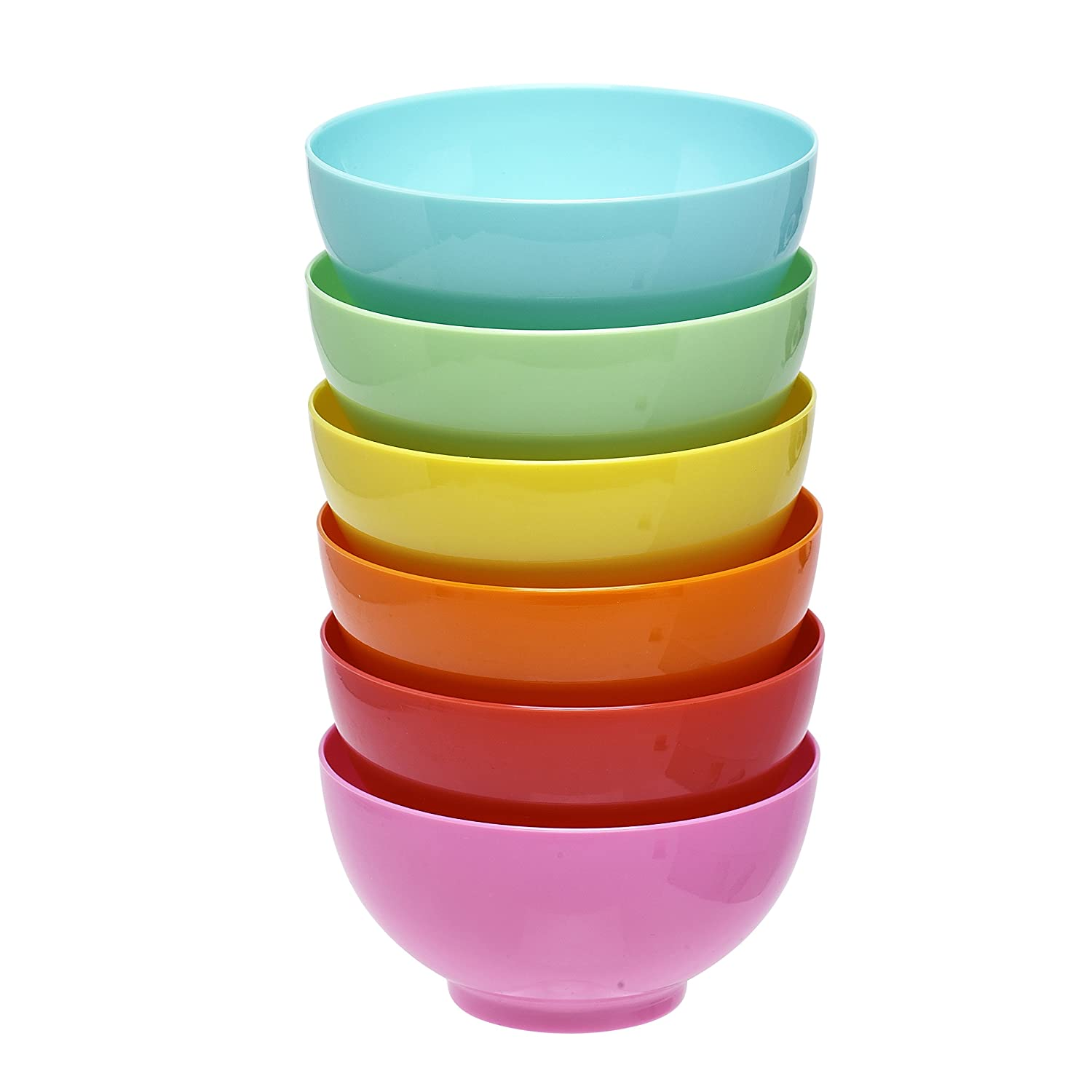 6 PC MULTI COLOUR 12.5X6.5 CM BOWLS KITCHEN CEREAL KIDS SNACKS CONDIMENTS SERVING CIRCULAR 400ML COOKING SOUP