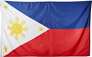 product image for Annin Flagmakers Model 196761 Philippines Flag Nylon SolarGuard NYL-Glo, 5x8 ft, 100% Made in USA to Official United Nations Design Specifications