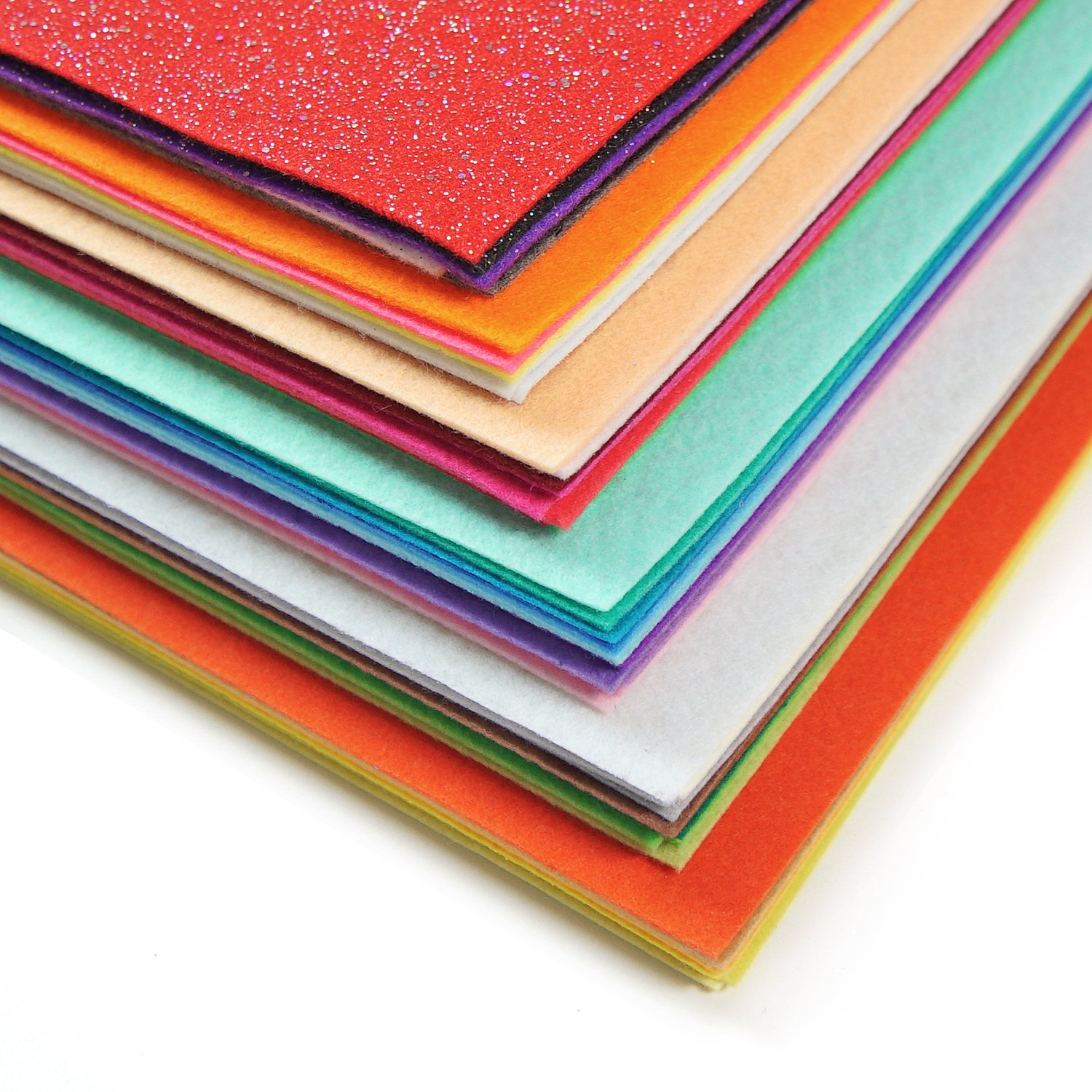 ARTEZA 50 Assorted Stiff Felt Fabric Sheets, 8.3''x11.8'' Squares, 1.5mm Thick for DIY Crafts, Sewing, Crafting Projects by ARTEZA (Image #2)