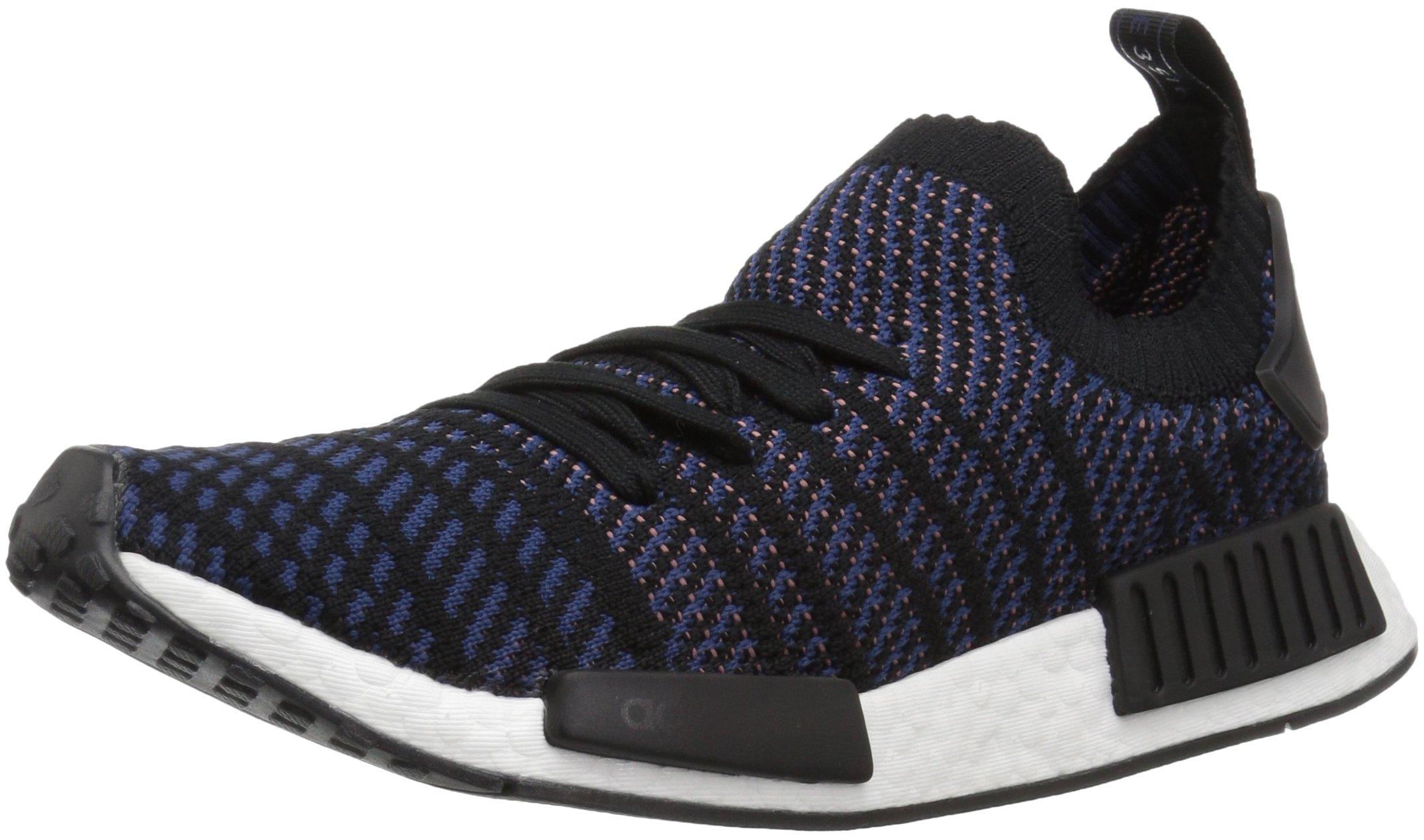 adidas Originals Women's NMD_R1 Stlt PK, Black/Ash Pink/Nobile Indigo, 6.5 M US