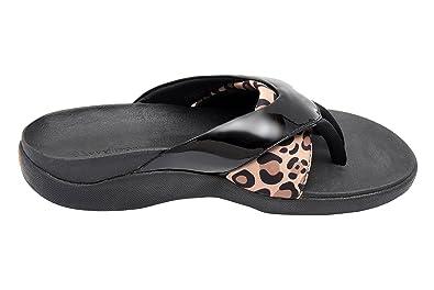 9747379b1b6b Wellrox Women s Evo-Megan Blk Pat Leopard Print Casual Sandal 6