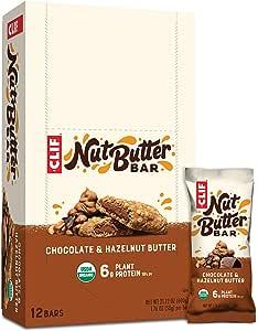 CLIF Nut Butter Filled Bar Chocolate Hazelnut Butter, 12 x 50 g