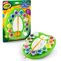 Crayola Washable Kids Paint Palette, 12 Bright Colours, Includes Paint Brush, All-in-One Paint Kit!