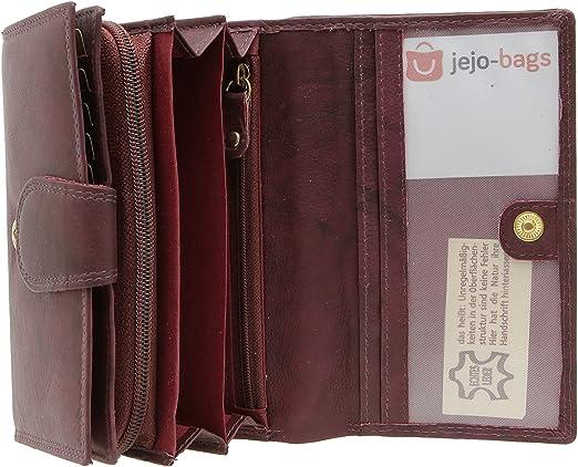 RFID-Blocker Geldbörse Portemonnaie Damen Leder Geldbeutel jejo-bags®