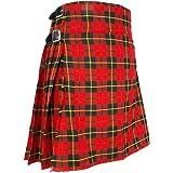 Best Kilts Men's Traditional Scottish 5 Yard Wallace Tartan Kilt