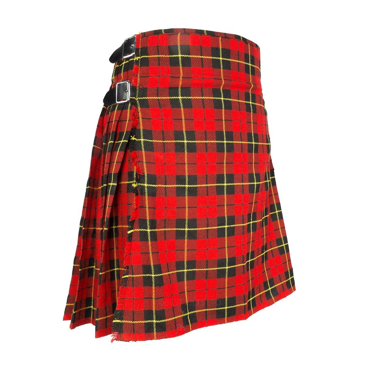 "Best Kilts Men's Traditional Scottish 5 Yard Wallace Tartan Kilt 30""-32"""