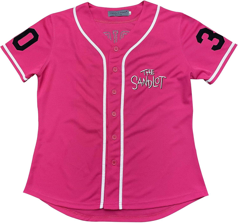 Rainbow Hawk Womens The Sandlot Benny The Jet Rodriguez 30 Movie Baseball Jerseys