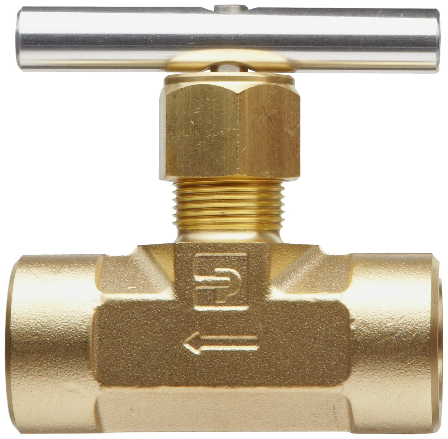 Needle Stem Parker V Series Brass Needle Valve Inline T-Bar Handle 1//2 NPT Female