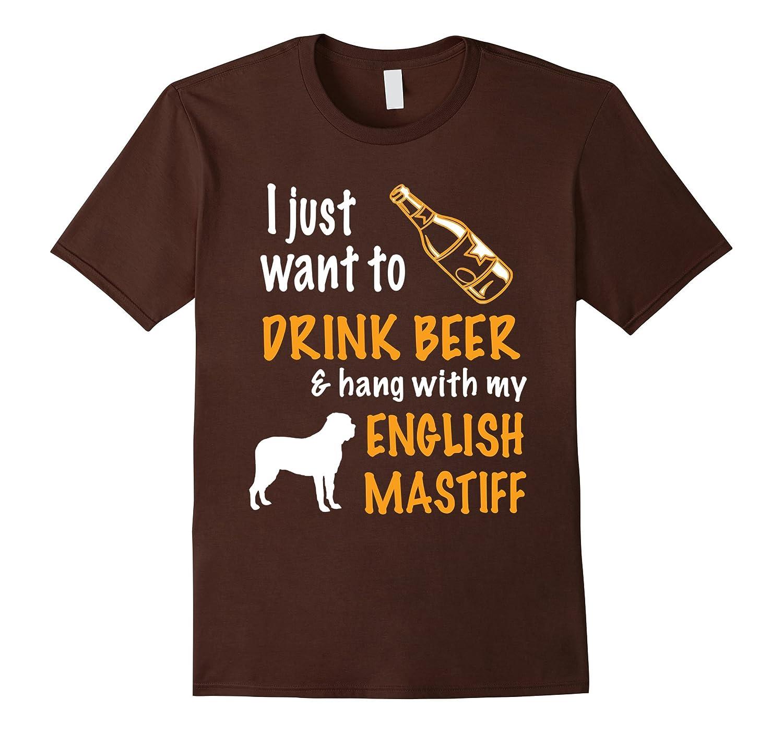 Beer  Hang With English mastiff T-Shirt-TH