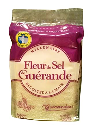Amazon Com Guerande Fleur De Sel Sea Salt Large Refill Bag 8 8